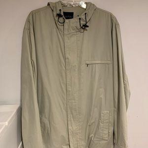 Men's Brooks Brothers Tan Rain Jacket Size L